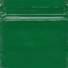 Зелёный многослойный зиплок пакет  7х7 см, толщина 100 микрон.