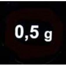 """Стикер """"0,5g"""" белый"""