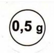"""Стикер """"0,5g"""" черный в круж"""