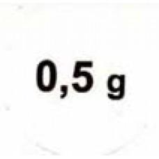 """Стикер """"0,5g"""" черный"""