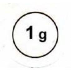 """Стикер """"1g"""" черный в кружке"""