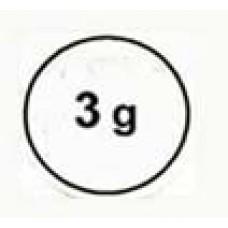 """Стикер """"3g"""" черный в кружке"""