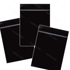Черный  однослойный  полиэтиленовый пакет  размер 5 х 7 см, толщина 100 мкм.
