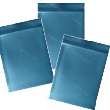 Синий  однослойный  полиэтиленовый пакет  размер 5х7 см, толщина 100 мкм