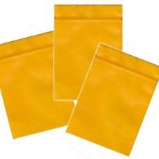Однослойный  полиэтиленовый пакет  жёлтый, размер 6х7 см, толщина 100 мкм.