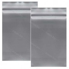 Серый  однослойный  полиэтиленовый пакет  размер 12х20 см, толщина 100 мкм