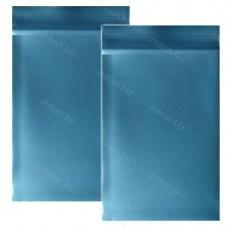 Синий  однослойный  полиэтиленовый пакет  размер 12х20 см, толщина 100 мкм.